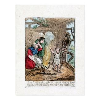 Dans van Dood - het Kind - de Druk van 1816 Kleur Briefkaart