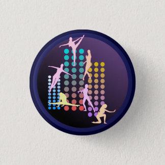 Dansend meisje ronde button 3,2 cm