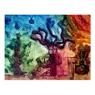 Dansend StammenMan Briefkaart