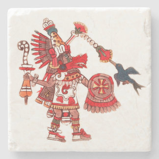 Dansende Azteekse medicijnmanstrijder Stenen Onderzetter