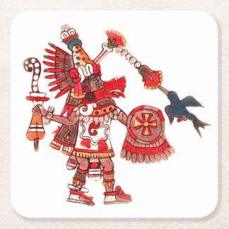 Dansende Azteekse medicijnmanstrijder Vierkante Onderzetter