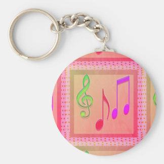 Dansende Muzikale Symbolen Sleutelhanger
