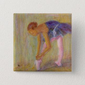 Danser die Haar Schoenen van het Ballet, Knoop Vierkante Button 5,1 Cm