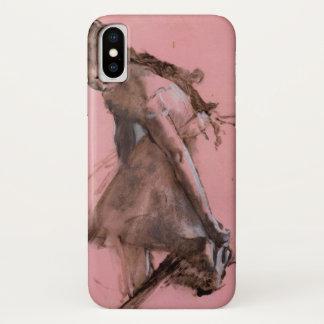 Danser die op Haar Schoen door Edgar Degas iPhone X Hoesje