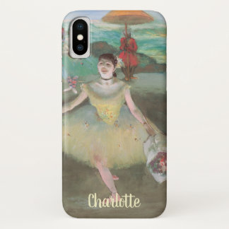 Danser met Boeket, Curtsying door Edgar Degas iPhone X Hoesje