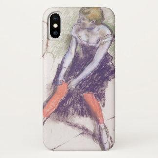 Danser met Rode Kousen door Edgar Degas iPhone X Hoesje