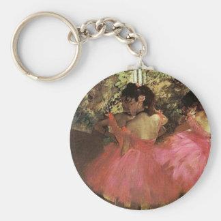 Dansers in Roze door Edgar Degas Keychain Sleutelhanger