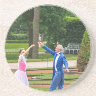 Dansers van Tsarskoye Selo van het Paleis van Zandsteen Onderzetter