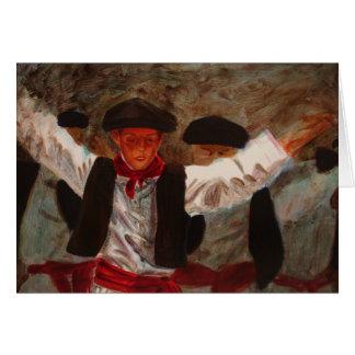 Dantzaritxiti - Baskische Danser Wenskaart