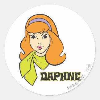 Daphne stelt 21 ronde sticker