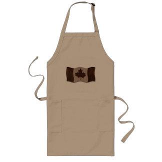 Dark van de Vlag van Canada van de leder-blik Lang Schort