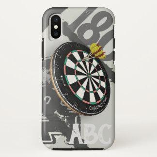 Dartboard 180 van de Speler van pijltjes Monogram iPhone X Hoesje