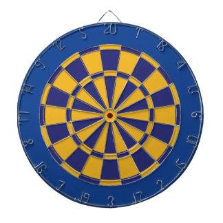 Dartboard: Goud, Marine, en Blauw Dartbord