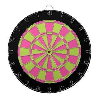 Dartboard: Groen, Roze limoen, en Zwarte Dartbord
