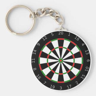 Dartboard Keychain Basic Ronde Button Sleutelhanger