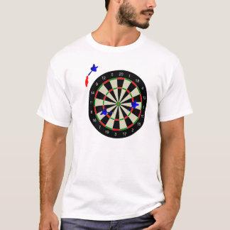 Dartboard met pijltjes t shirt