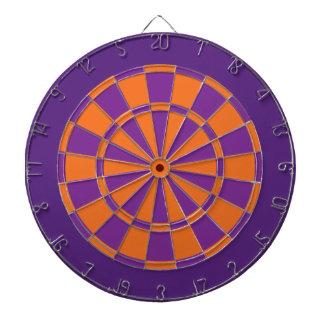 Dartboard: Oranje, Paarse, en Donkere Paars Dartbord