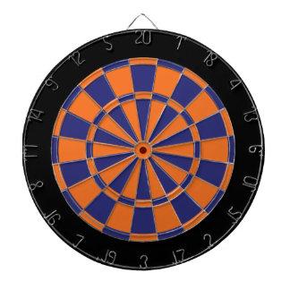 Dartboard: Sinaasappel, Marine, en Zwarte Dartbord