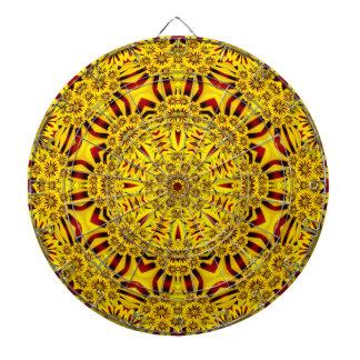 Dartboard van de Caleidoscoop van goudsbloemen   Dartbord