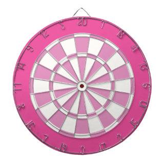 Dartboard: Wit, Lichtrose, en Donkerder Roze Dartbord