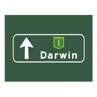 Darwin, de Verkeersteken van Australië Briefkaart
