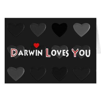 Darwin houdt van u kaart