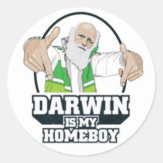 Darwin is Mijn Homeboy (Volledige Kleur) Ronde Sticker