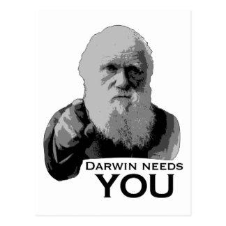 Darwin wenst u! briefkaart
