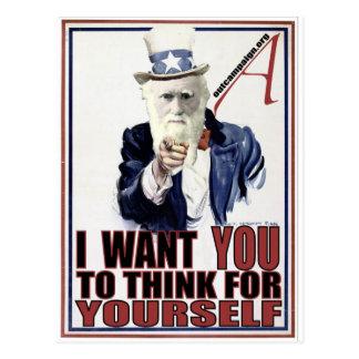 Darwin wil u briefkaart