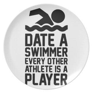 Dateer een Zwemmer Bord