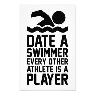 Dateer een Zwemmer Briefpapier