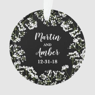 Datum van het Huwelijk van Babys de Adem Ornament
