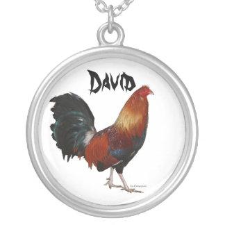David Rooster Necklace Zilver Vergulden Ketting