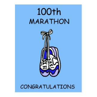 de 100ste blauwe Gelukwensen van de Marathon, Briefkaart