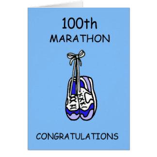 de 100ste blauwe Gelukwensen van de Marathon, Briefkaarten 0
