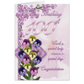 de 100ste Kaart van de Verjaardag voor een