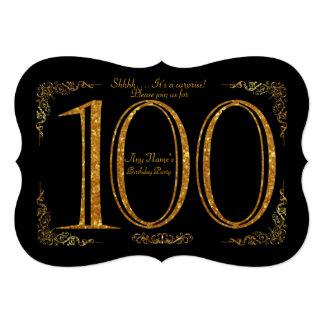 de 100ste, partij van de Verjaardag 100ste, Kaart