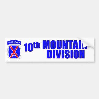 de 10de Afdeling van de Berg Bumpersticker