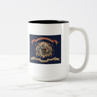 de 139ste NY Vrijwilligers RegimentsVlag van de Tweekleurige Koffiemok