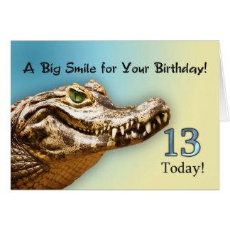 de 13de kaart van de Verjaardag