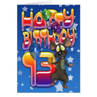 de 13de Kaart van de Verjaardag, Gelukkige