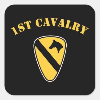 de 1st Afdeling van de Cavalerie Vierkante Sticker