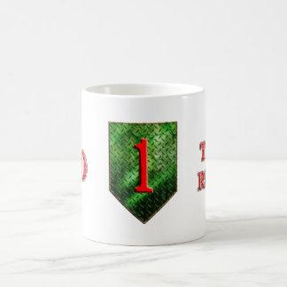 de 1st Afdeling van de Infanterie Grote Rode Koffiemok