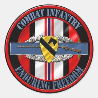 de 1st Infanterie OEF van de Afdeling van de Ronde Sticker