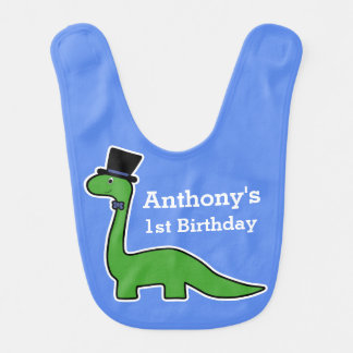 de 1st Leuke en Groene Dinosaurus van de Baby Slabbetje