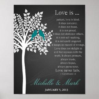 de 1st liefde van de huwelijksverjaardag is poster