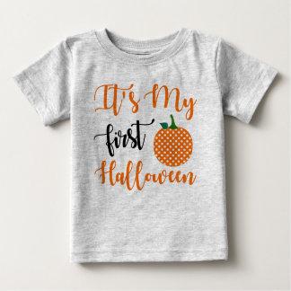 de 1st Pompoen van het Feestvarken Baby T Shirts