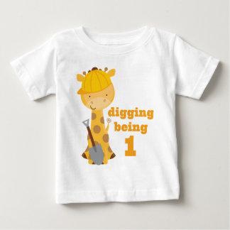 de 1st T-shirt van de Bouwvakker van de Giraf van