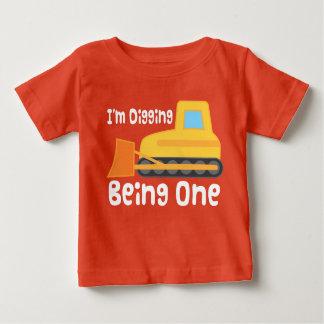 de 1st T-shirt van de Bulldozer van de Bouw van de