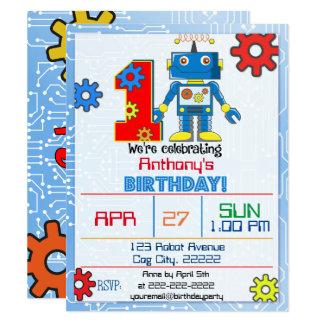 de 1st Uitnodiging van de Robot van de Verjaardag